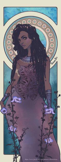 African Queen Sainasix Illustration by Saina6 on DeviantArt