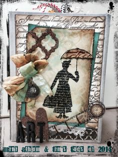 Tim Holtz Worn Cover mini Album with my 2014 Tags!
