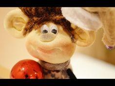 Видеоурок: миниатюрная обезьянка в чулочной технике - Ярмарка Мастеров - ручная работа, handmade