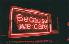 Neon Sign by Miss Rosa, via Flickr