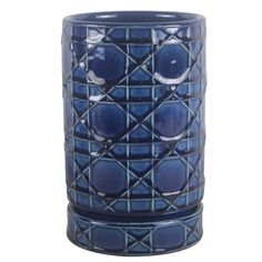 Trendspot ceramic pottery is hand crafted of durable ceramic clay and artisan glazes. The 6 in. Cobalt Blue Carlysle Cylinder Ceramic Planter features a versatile shape, stylish design and a rich