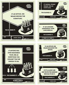 work beer ads
