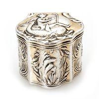 Verguld Zilveren Lodereindoosje