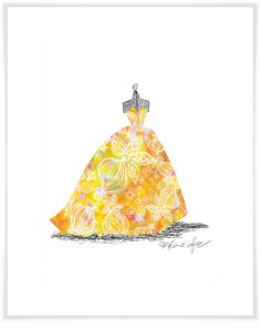 Ballgown Sunburst, Girl Art Prints | Oopsy daisy