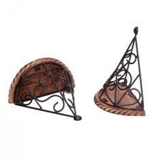 Onlineshoppee Wooden & Iron Fancy Design Wall Bracket/Rack