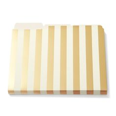 KATE SPADE GOLD STRIPE FOLDERS - add to your pretty office decor with our chic and stylish file folders