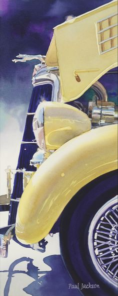 """35 Ford, Paul Jackson  8x22"""" watercolor"""