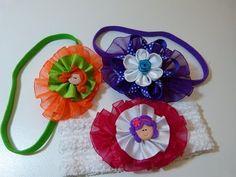 accesorios para niñas faciles para el cabello en cintas. bows and flowers for hair - YouTube