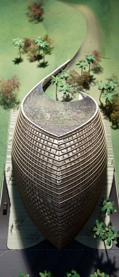 Visit buildyful.com - the global place for architecture students.~~Model photo (Image courtesy of Mario Cucinella Architects)