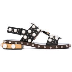 32da070a2ba9d0 Gucci pearl embellished sandals (45,020 MXN) ❤ liked on Polyvore featuring  shoes, sandals