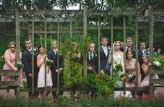 Cleveland & Akron Ohio Wedding Photography, wedding party at garden wedding.