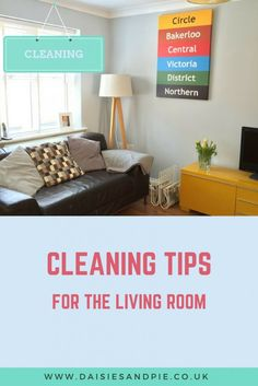 Cleaning tips and routines for the living room | Homemaking | Daises and Pie