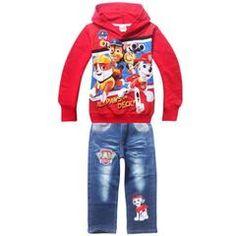 BNWT PAW Patrol girls cotton top t-shirt tshirt denim skirt 2pc oufit set New