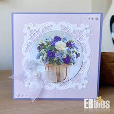 EBbieskaarten: Bloemenkaarten Decoupage, Frame, Cards, Home Decor, Picture Frame, Decoration Home, Room Decor, Maps, Frames