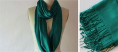 Sew An Infinity Scarf. Use your pashmina for the fabric. Easy tutorial and great gift. Tutorial on www.haberdasheryfun.com