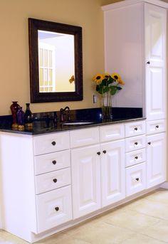Strasser shaker 60 vanity with linen tower ideas for - Discount bathroom vanities near me ...