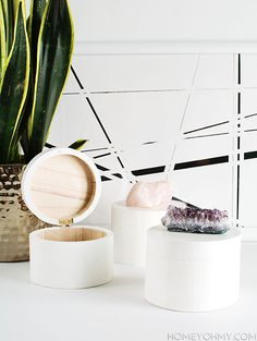 DIY Crystal Knob Boxes via Homey Oh My!