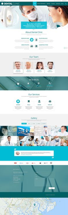 Dental Clinic #wordpresstheme wordpress website template