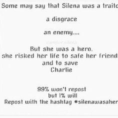 #shewasaherounderstandahero #shewasahero #SilenaWasAHeroFuckYouIfYouSayOtherwise