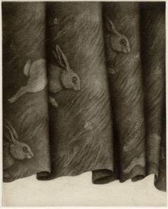LC201629 林明日美 HAYASHI Asumi 「夜明けの庭」銅版(メゾチント)・雁皮刷り 15×12cm ED/60