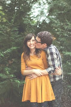 Love the cute and happy engagement pictures. No serious, model face junk Winter Engagement, Engagement Couple, Engagement Pictures, Engagement Session, Christmas Engagement, Couple Photography, Engagement Photography, Wedding Photography, Photography Ideas