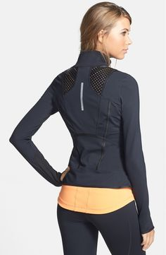Free shipping and returns on Zella Mixed Media Jacket at Nordstrom.com. Faux leather mesh and moisture-wicking stretch knit command a seam-sculpted performance jacket that gives your workout a turbo boost.