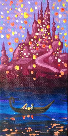 Lights - Disney's Tangled 2x4 Acrylic Painting for sale on Etsy
