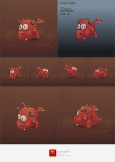 Low Poly Micro Dragon Fino by bitgem.deviantart.com on @deviantART