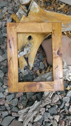 Reclaimed wood picture frame distressed