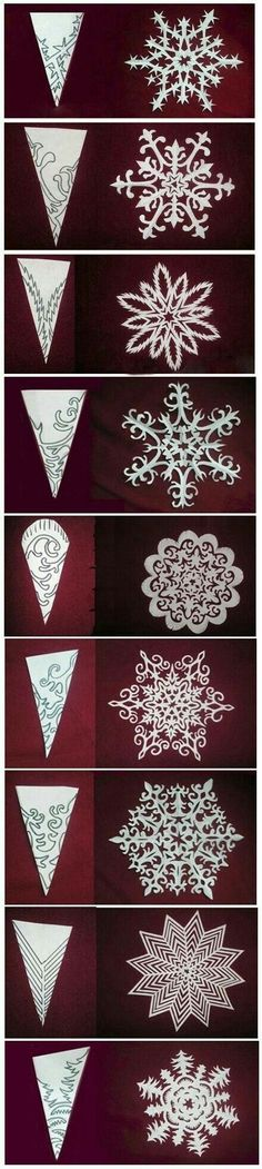51 Ideas Origami Christmas Diy Snowflake Template – Welcome My World Holiday Crafts, Fun Crafts, Crafts For Kids, Arts And Crafts, Christmas Art, Christmas Decorations, Christmas Ornaments, Origami Christmas, Christmas Paper Chains