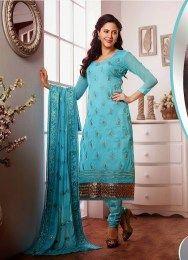 Aqua Color Cotton Salwar Suit