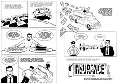 "Jonathan Gruber, who worked on both Romneycare and Obamacare, explains health reform's individual mandate in these pages from his graphic novel, ""Health Care Reform."""