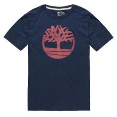 Timberland - T-shirt SS Kennebec River Tree Tee Homme - Coupe Droite - black iris