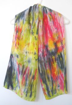 HAND DYED SILK SCARF by T-World Design ► http://etsy.me/1APjJ62