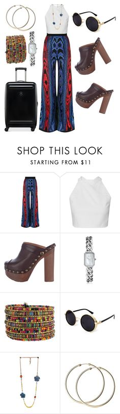 """""""Spring vacation"""" by bessyv on Polyvore featuring Balmain, Chanel and Victorinox Swiss Army"""