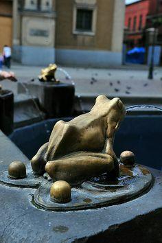 The Fountain - elements. Torun, POLAND