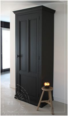 home accessories black - homeaccessories Wardrobe Furniture, Home Furniture, Küchen Design, Interior Design, Painted Wardrobe, Black Painted Furniture, Cabana, Home And Living, Interior Inspiration
