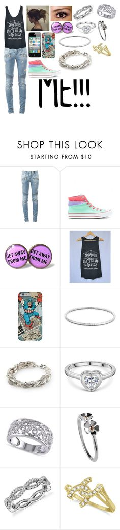 """My Style(if I owned any of it)"" by blackest-raven ❤ liked on Polyvore featuring Balmain, Converse, Blue Nile, MANGO and Allurez"