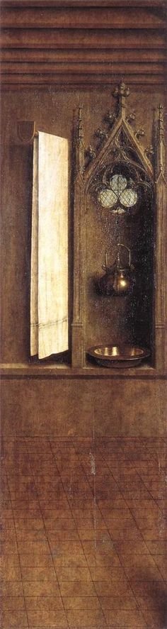 The Ghent Altarpiece, detail from the exterior of the right shutter, 1432  Jan van Eyck