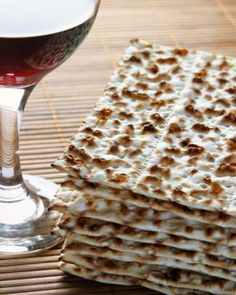 Cup of wine and matzos - The Passover Bread and Wine The Meaning of the Passover