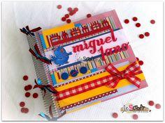 Álbum Espiral Galinha Pintadinha / para fotos ou caderno de assinaturas