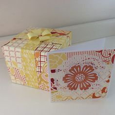 Matching gift box and card.