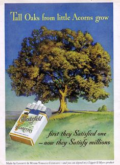 cigarette Chesterfield advertising