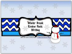 Winter Break Review Pack: Writing from That Was Fun! on TeachersNotebook.com -  (6 pages)  - Writing Journal pages with Word Bank and pictures to assist students.
