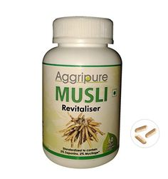 #1 Ancient Ayurvedic Herb For Sexual Health With No Side Effects | Increase your Size, Stamina and Energy Naturally | 250 Mg Musli Root Powder In Each Serving Standardized to Contains 3% Saponins and 2% Mucliage | All Natural Male Enhancement