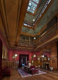 Seth C. Bradford (construction), Richard Morris Hunt (renovations) {Architects} - Chateau-sur-Mer, Newport, Rhode Island