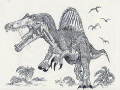 Want to discover art related to spinosaurus? Check out inspiring examples of spinosaurus artwork on DeviantArt, and get inspired by our community of talented artists. Dinosaur Sketch, Dinosaur Art, Spinosaurus, Park Party Decorations, Godzilla, Tattoo Design Drawings, Tattoo Designs, Dinosaur Tattoos, Dinosaur Illustration