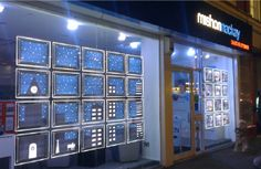 The Sussex Sign Company supply's and fits LED estate agent window displays