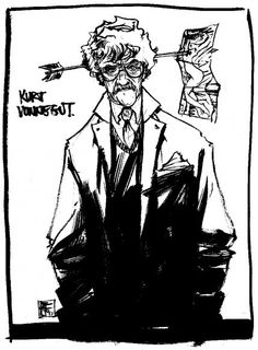 The late, great Kurt Vonnegut by Nathan Fox. Come unstick your mind with Nathan at Cincy ComiCon 2013, this Sept 6-8th!