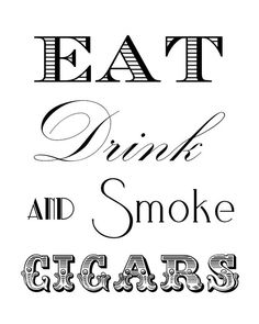 This is a digital file. Add a finishing touch to your event with this Cigar Bar Sign.    This is an 8x10 digital file. When payment is received, a
